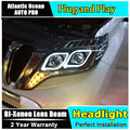 AUTO.PRO 2014-2015 for prado headlights Angel Eyes car styling LED light DRL bi xenon lens for prado xenon head lamps