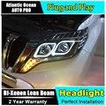 AUTO. PRO 2014-2015 para prado faróis Angel Eyes bi xenon lente carro styling LEVOU luz DRL para prado xenon cabeça lâmpadas