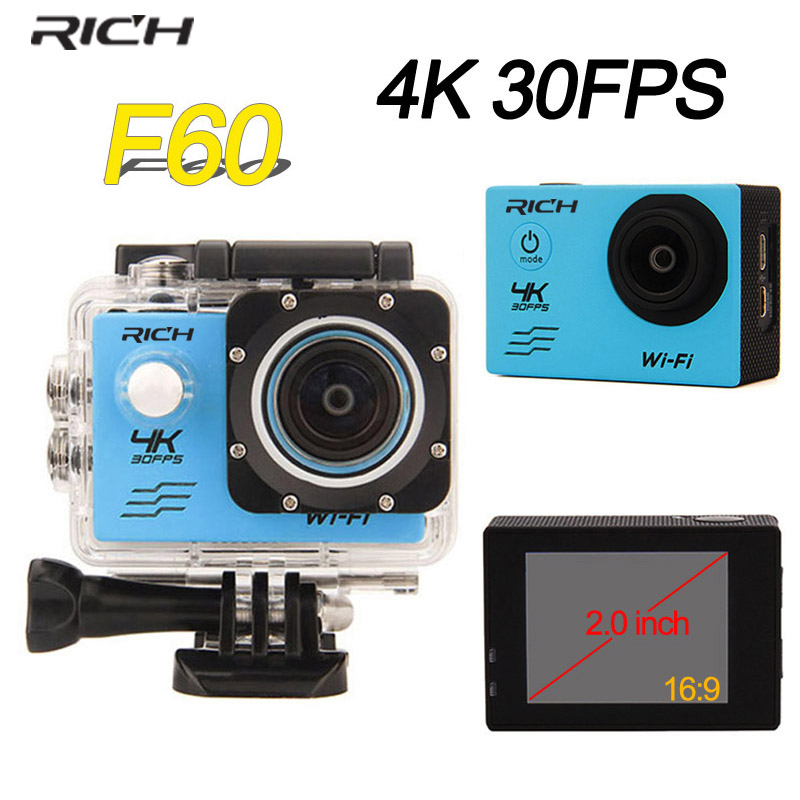 RICH action Camera 30fps Video Sports Camera wifi 1080P Waterproof DV underwater cameras sport action cam 4k 2017 arrival original eken action camera h9 h9r 4k sport camera with remote hd wifi 1080p 30fps go waterproof pro actoin cam
