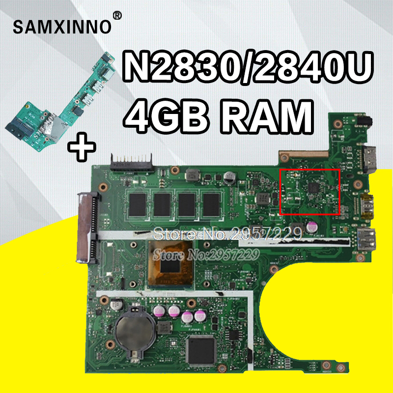 Send board+X200MA Motherboard N2830/N2840 4GB RAM For ASUS F200MA F200M laptop Motherboard X200MA Mainboard X200MA Motherboard for asus motherboard f200ma f200m x200m x200ma rev2 1 mainboard with n3540u 4g memory test 100