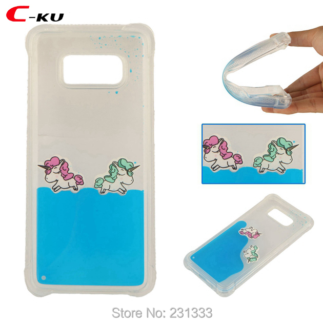 Half-wrapped Case Cellphones & Telecommunications C-ku 3d Liquid Unicorn Soft Tpu Case For Samsung Galaxy S7 Edge S8 J120 Note 8 J310 Quicksand Shockproof Clear Skin Luxury 1pcs High Quality Goods