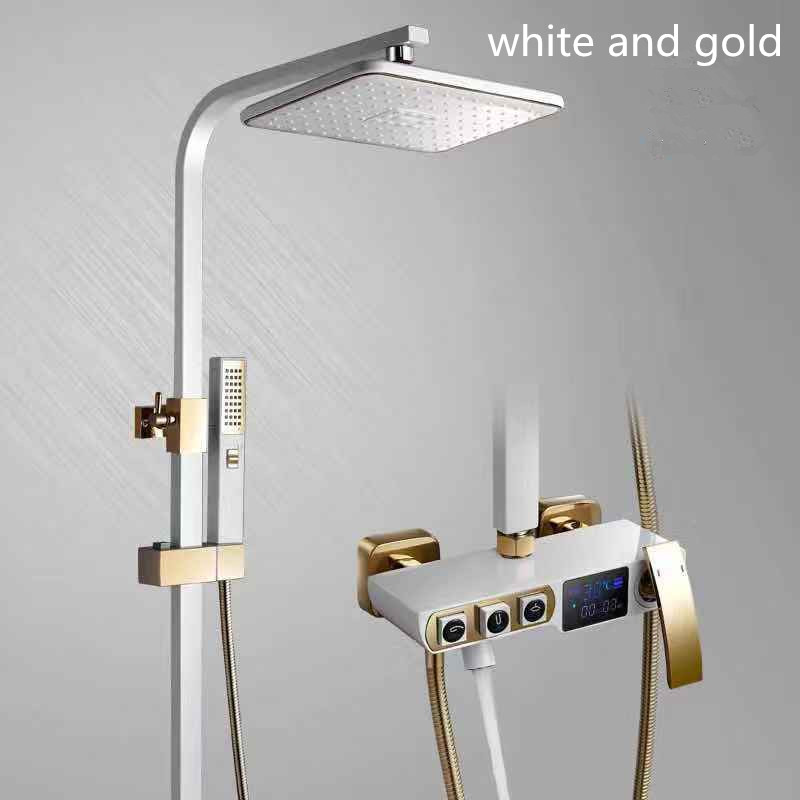 Black bidet shower set Square wall shower digital bath crane white bathroom Shower faucet with bidet Bathtub shower tap MJ6689