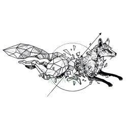 Водонепроницаемый временная татуировка лиса волк волки КИТ Сова Геометрическая животных tatto флэш-тату поддельные татуировки для женщин