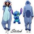 Hot Adult Unisex Adult Pajamas New Stitch Cosplay Costume Animal Onesie Sleepwear cartoon pyjamas