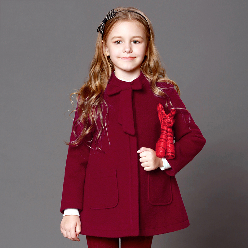 Childrens clothing girl coat autumn/winter dress new coat in big kids woolen coat woolen coatChildrens clothing girl coat autumn/winter dress new coat in big kids woolen coat woolen coat