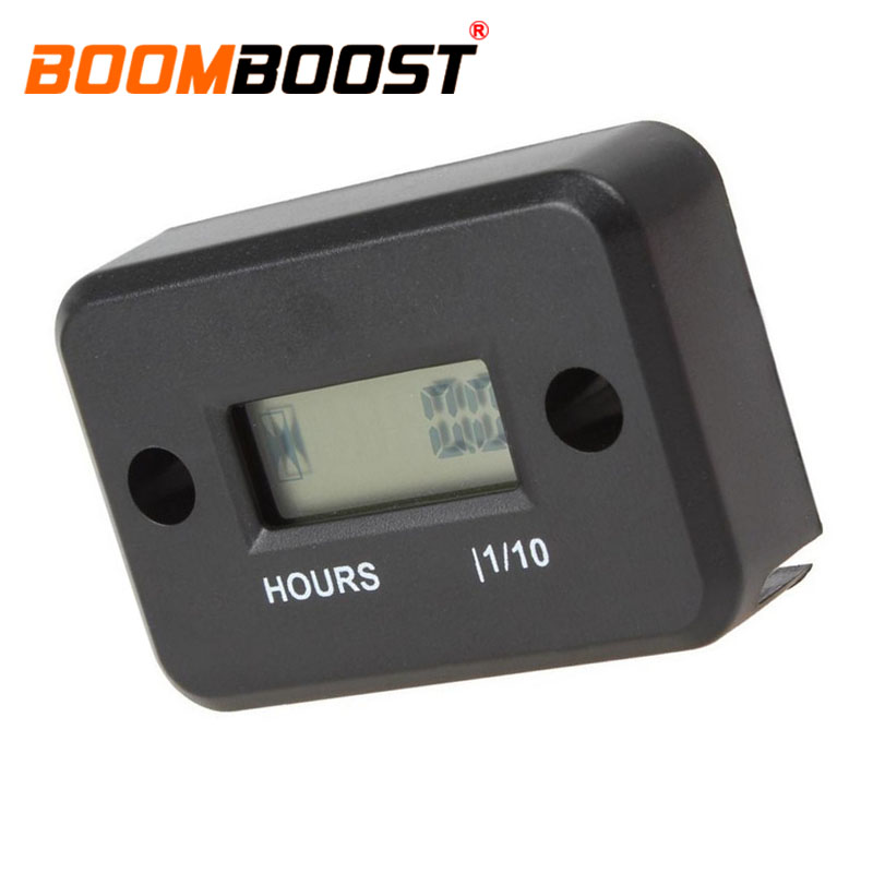 Waterproof LCD Digital Hour Meter For Motorcycle Marine ATV Dirt Gas Engine US