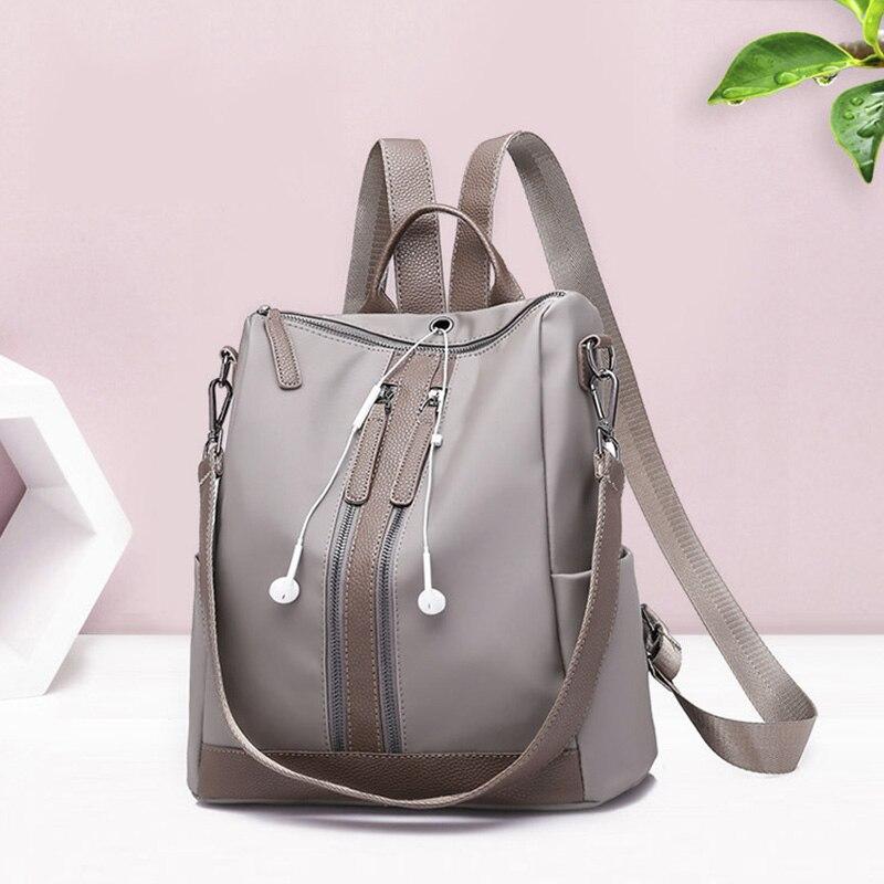 2018 Oxford backpack female Headphone plug women backpack for teenage girl High capacity school bag lady Rucksack Moclila W188