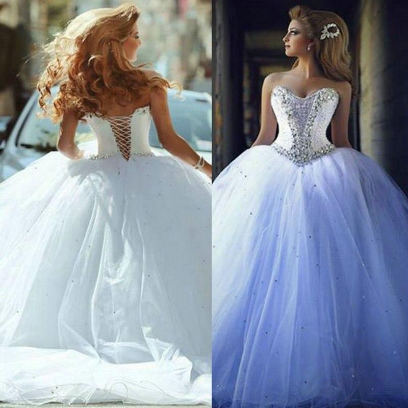2016 Wedding Dresses with Rhinestones Vintage Ball Gown Wedding ...
