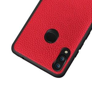 Image 2 - Huawei nova 3를위한 mofi 전화 상자 nova 3 케이스를위한 뒤 표지 nova3 shockproof coque capa pc tpu를위한 본래 pu 가죽 주거