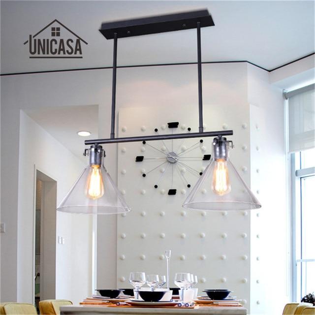 Glas Hanglamp Vintage Industriële Verlichting Woonkamer Bar Veranda ...