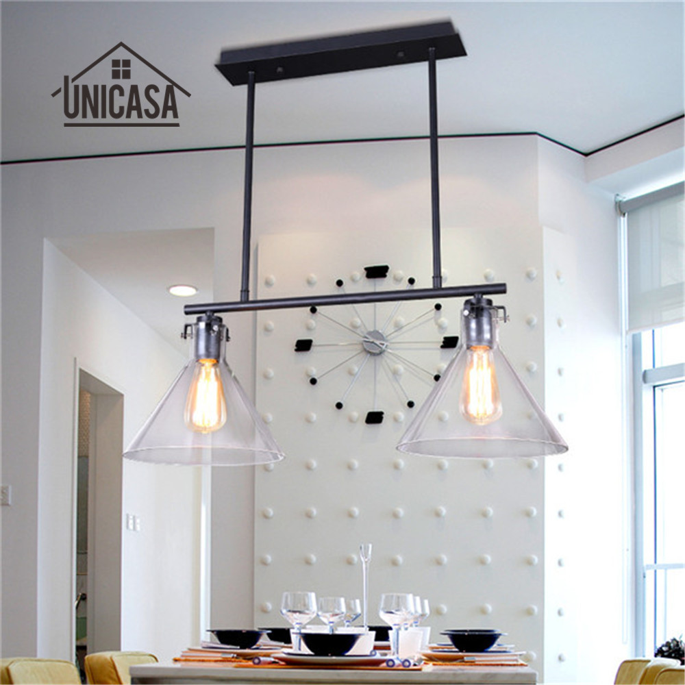 Glas hanglamp vintage industriële verlichting woonkamer bar veranda keuken eiland led lamp grote moderne hanger plafond