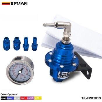 EPMAN Adjustable Fuel pressure Regulator FPR Universal jdm turbo+Liquid Gauge 0-160 Psi For Jeep Cherokee XJ 91-01 TK-FPRT81S