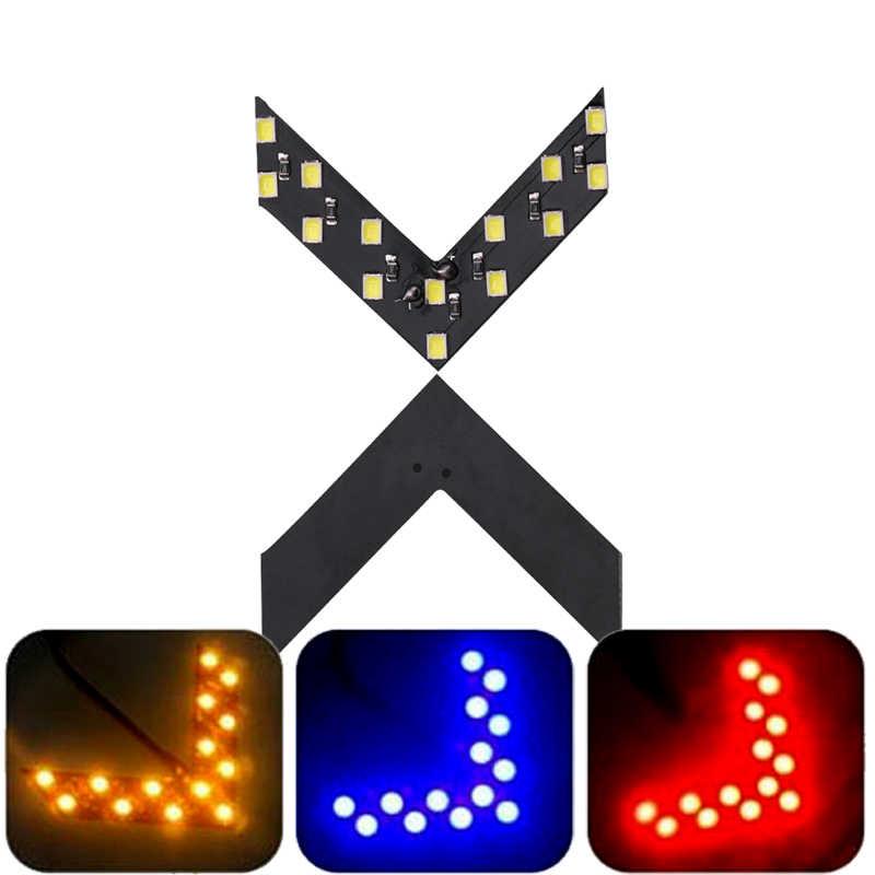 2x 車の Led インジケータ電球リアビューミラー信号ライトオート/オートバイ矢印パネルスタイリングランプ赤、青、黄色 12V 12SMD