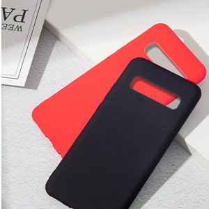 Image 3 - Liquid Silicone Case For Samsung Galaxy A50 A70 S10 Note10 Plus Soft Back Matte Case For Samsung Note10 8 9 S8 S9 S10 Plus Cover