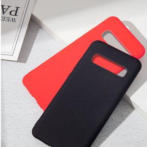 Image 3 - Liquido Custodia In Silicone Per Samsung Galaxy A50 A70 S10 Note10 Più Morbida Posteriore Case Matte Per Samsung Note10 8 9 s8 S9 S10, Più Copertura