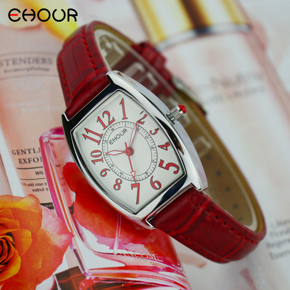 Ehour Top Brand Fashion Ladies Watches Leather Female Quartz Watch Square Women Waterproof Casual Strap Watch Reloj Mujer new design square women watches rebirth popular brand fashion casual ladies watch quartz clock grey wristwatches reloj mujer