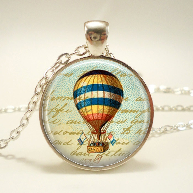 Vintage Steampunk Jewelry Steampunk Airship Necklace Glass