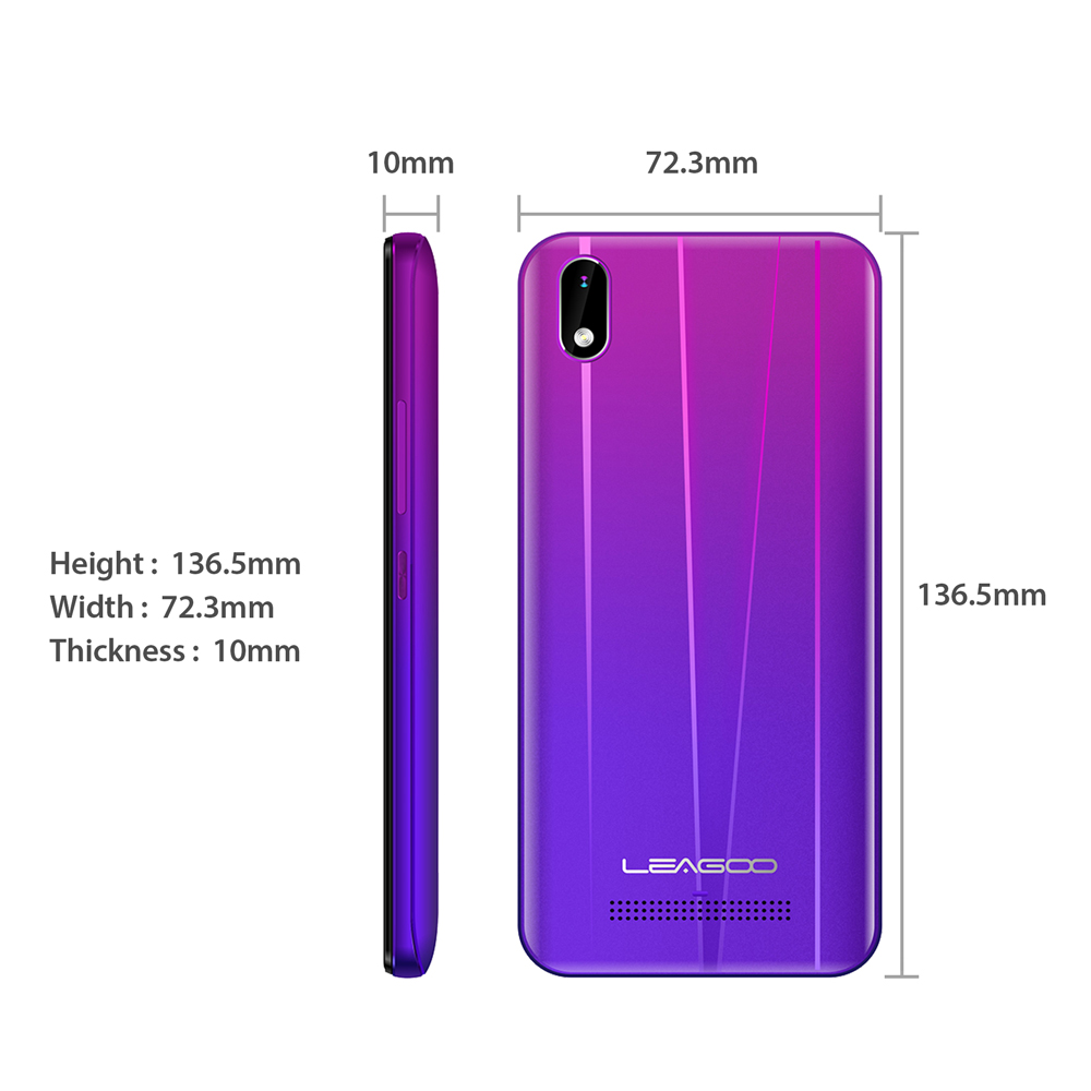 Image 3 - LEAGOO Z10 Android 5.0inch Mobile Phone MT6580M Quad Core Dual SIM WCDMA 3G Cellphone Dual 5.0MP Cams 2000mAh Baterry Smartphone-in Cellphones from Cellphones & Telecommunications