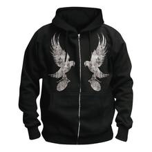 7 Ontwerpen Vleugels Hollywood Undead Zachte Warme Rits Hoodies Merk Shell Jas Punk Nieuwe Metalen Rap Rock Sudadera Fleece Trainingspak