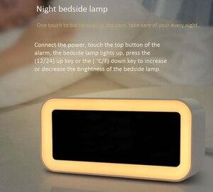 Image 5 - حار 12 فولت شحن USB مزدوج ساعة ذكية منبه رقمي مع عكس الضوء مصباح ليد وظيفة غفوة الموسيقى ساعة تنبيه