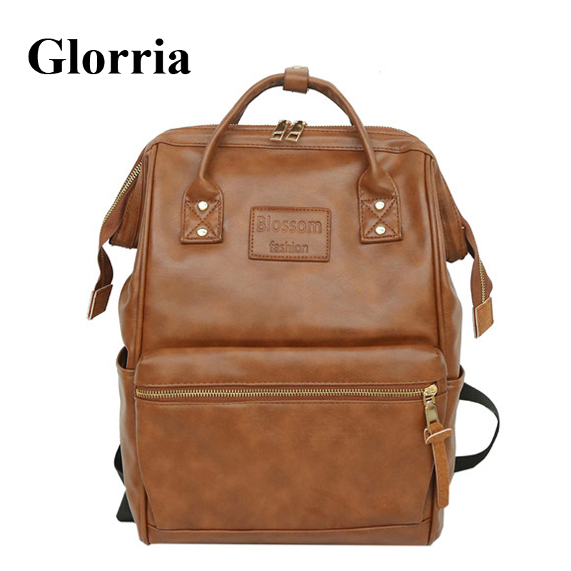 Glorria 2019 Women Large Capacity Backpack Teenager Girls Leather School Bag Tassel Travel Bag For Female Kanken Bagpack MachilaGlorria 2019 Women Large Capacity Backpack Teenager Girls Leather School Bag Tassel Travel Bag For Female Kanken Bagpack Machila