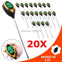 20 x pieces Digital 4in1 Plant Soil PH Moisture Light Soil Meter 200mm Probe Tester Sunlight Thermometer Temperature Lawns