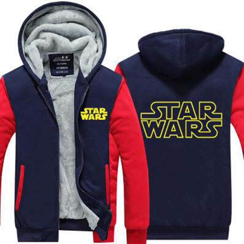 2017 new listing mens hoodies fashion jacket Star wars hoodies winter novelty hoodie thicken fleece winter coat US EU Plus Size