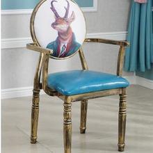 Европейский стиль стул в стиле ретро стул для маникюра персонализированные пользовательские железные Старая тема Отель Обеденный Стул креативный задний макияж стул