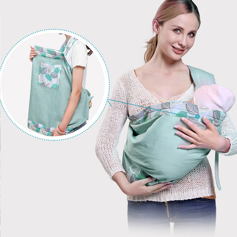 Newborn Baby Carrier Activity Gear Portable Ring Sling Breastfeed Feeding Backpacks Wrap Adjustable Breathable Carrier