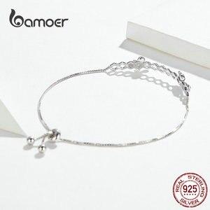 Image 3 - Bamoer abeille en nid dabeille Bracelet pour femmes 925 argent Sterling vente chaude reine des abeilles boîte chaîne Bracelets bijoux de mode SCB150