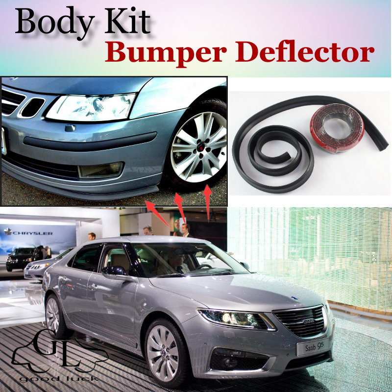 Detail Feedback Questions About Bumper Lip Deflector Lips For Saab 9 5 95 Front Spoiler Skirt TopGear Friends Car Tuning View Body Kit Strip On