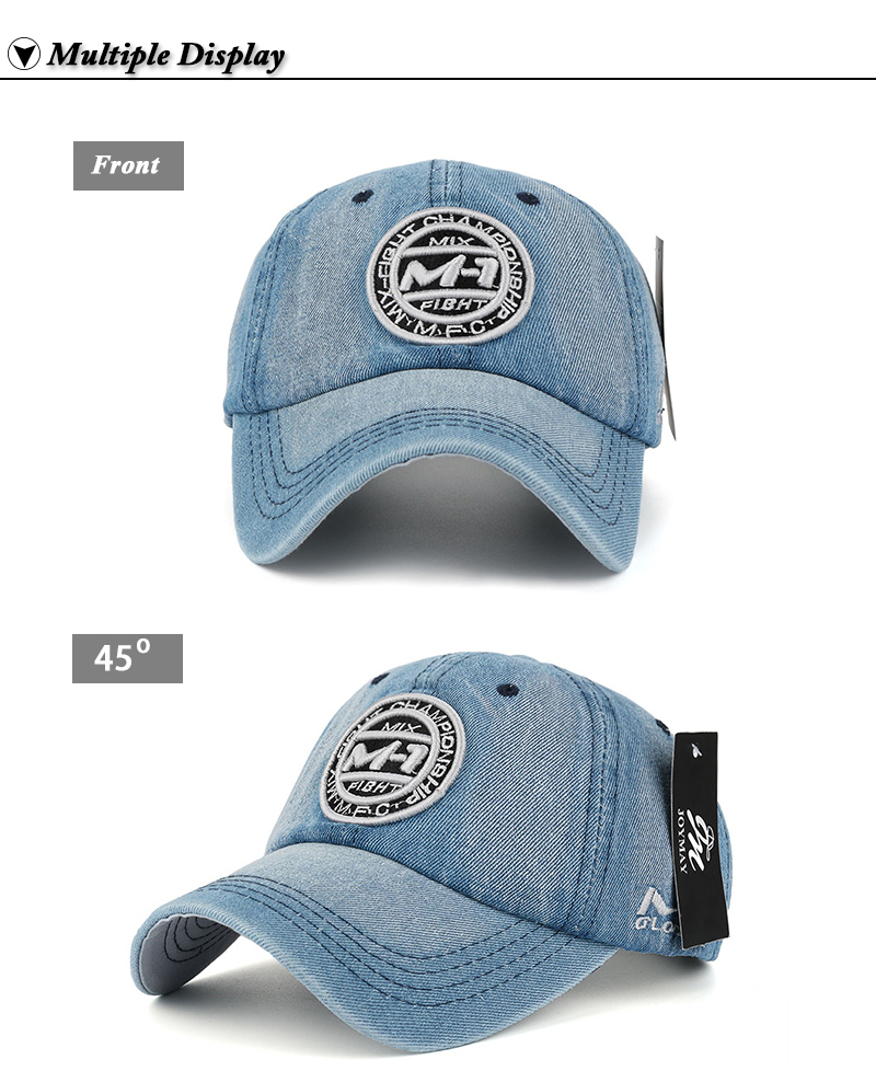 New arrival high quality snapback cap demin baseball cap 5 color Jean badge embroidery hat for men women boy girl cap B346 19