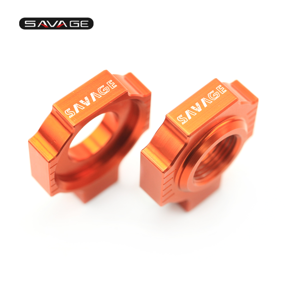 Chain Adjuster Regulator Sliders For KTM XC-W XCF-W EXC-F EXC 525 520 500 450 400 350 380 300 250 200 125 Motorcycle Accessories motorcycle front rider seat leather cover for ktm 125 200 390 duke