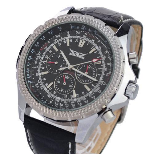 New 2017  JARAGAR  Mens Watch Muct-functional Week Date Mechanical Wristwatch Gifts Free Ship
