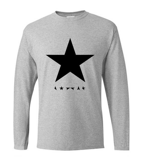 9ae8df77e US $7.97 17% OFF|David Bowie heroes black star men t shirt 2019 new spring  100% cotton men's long sleeve o neck T shirts hip hop man top tees-in ...
