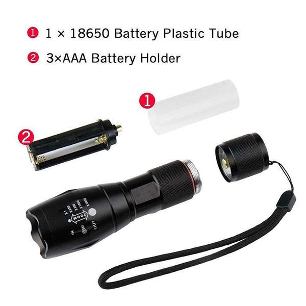 [Free Ship] Hot G700 10W CREE L2 XM-L T6 LED 3W UV 365NM 395NM Zoom Power Flashlight Torch Light Lantern Lamp for 18650 Battery