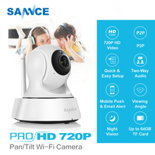 SANNCE 720P HD Security Camera 1.0MP Wireless IP Camera P2P Night Vision CCTV Camera support Two Way Audio Baby Monitor