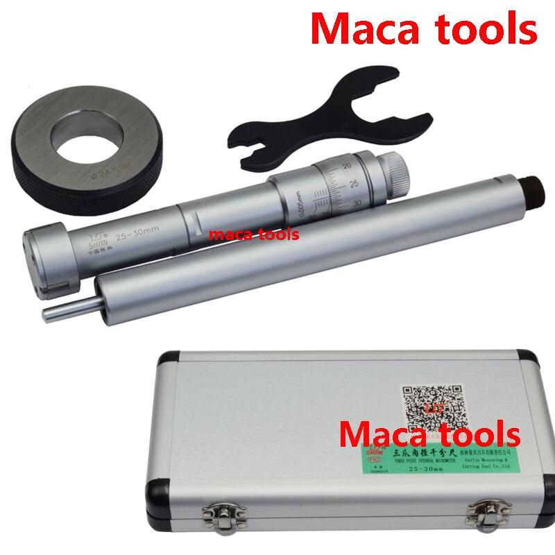 20 25mm 25 30mm 30 40mm 40 50mm Three point Internal Micrometers 0 01mm Three point