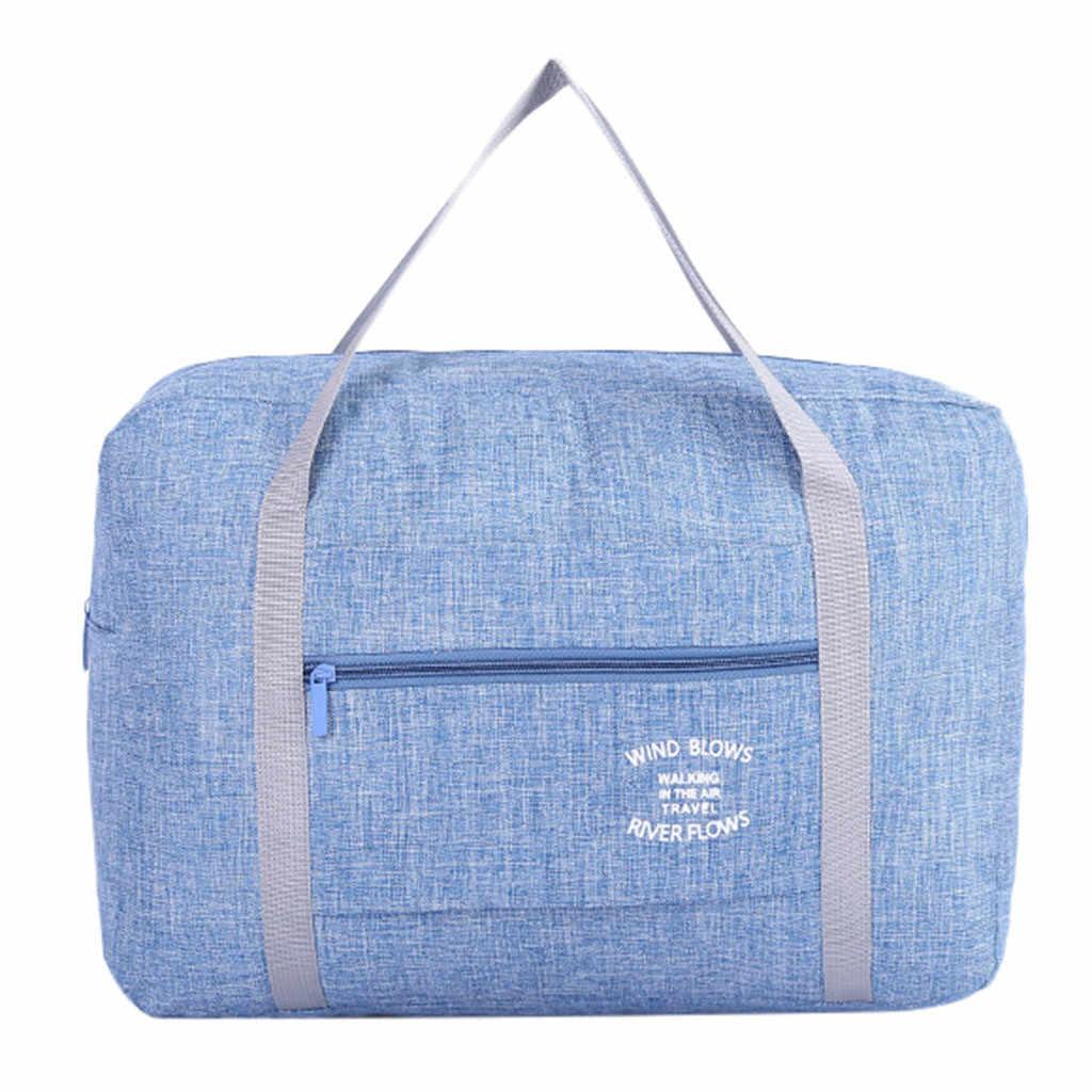 20192019 складной Водонепроницаемый большой Портативный сумка через плечо для путешествий тележка Портативный Твердые молния небольшой моды новое высокое качество