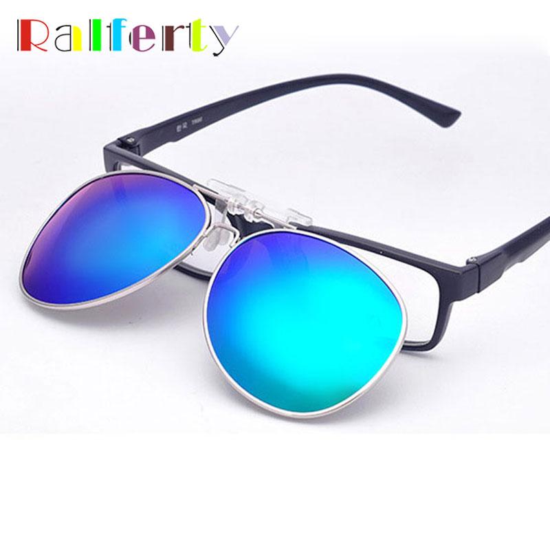62a422d0ff33b Ralferty Pilot Espelhado Polarizada Clip Sobre Óculos De Sol Das Mulheres  Dos Homens Virar Para Cima Condução Lente Polaroid Caber Sobre Óculos Óculos  de ...
