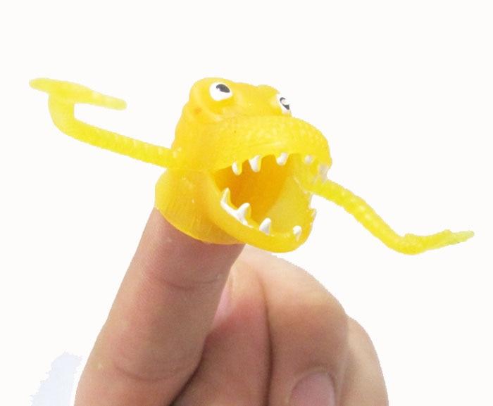 Novelty Dinosaurus Plastik Fingers Fingers Tacit Story Mini Dinosaur - Boneka dan mainan lunak - Foto 2