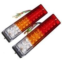 2x LED Stop Rear Tail Brake Reverse Light Turn Indiactor 12V Boat ATV Truck Trailer Lamp
