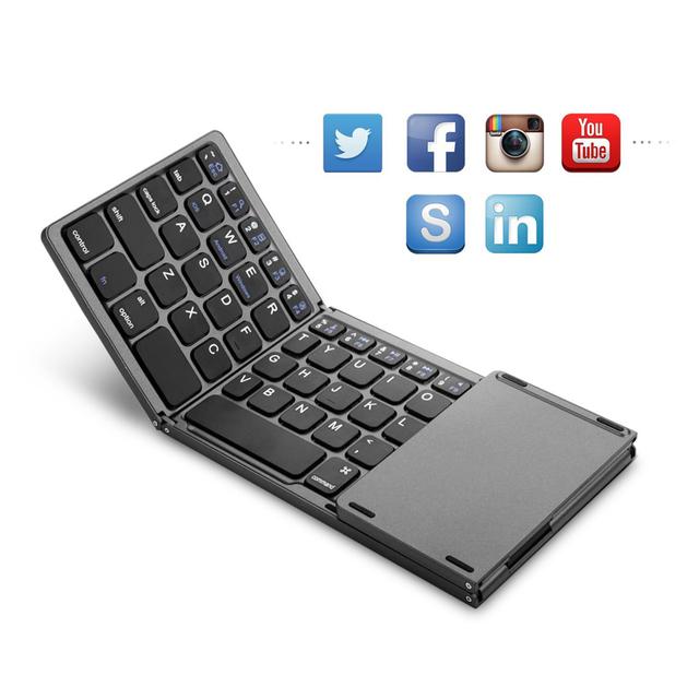Mini folding keyboard Bluetooth with Touchpad