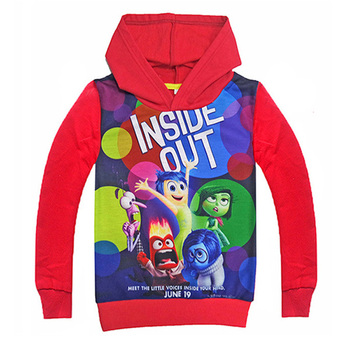 2017 Inside Out Kids Hoodies Winter Sweatshirts Cartoo Long Sleeve T-Shirt jacket Girl Boy Spring Autumn Fashion Clothes crianca