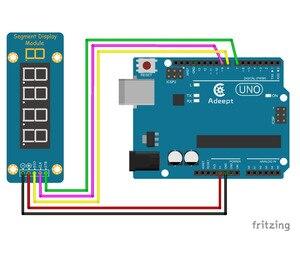 Image 2 - Adeept New TM1638 LED 4 Digit 7 Segment Digital LED Display Module for Pi Arduino Raspberry Pi ARM AVR DSP PIC Freeshipping