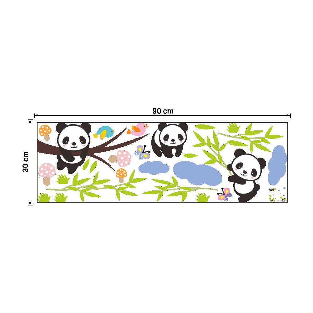 DIY 3D милая панда бамбуковая оконная наклейка для детского сада Декор Съемный стикер милый
