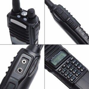 Image 4 - BaoFeng Walkie Talkie UV 82 5w bateria 3800mah 10 cinco quilômetros Nos Dois sentidos cb ham rádio portátil poderoso handheld Dual PTT uv82 Rádio caça