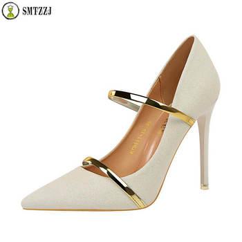Luxury brand Design Gold Sliver Bling Women Pumps Shoes Slip on Pointed High Heels Pump Single elegant wedding shoes 2019
