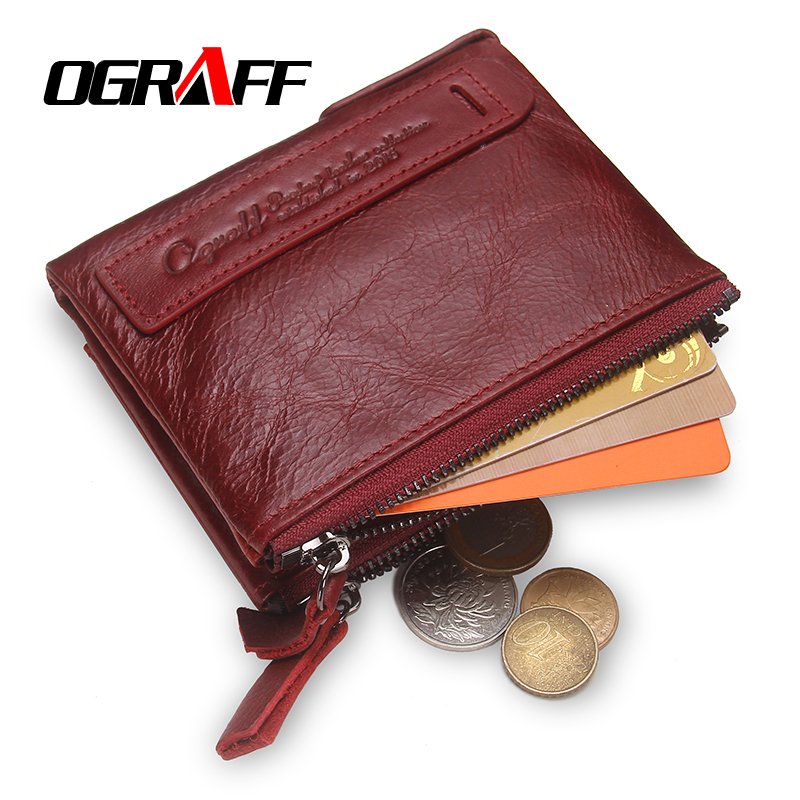 OGRAFF Women Wallet Female Genuine Leather Purse Credit Card Holder Dollar Wallet Men Small Women Wallet Coin Purse Lady Wallet 2016 new pu leather hasp ladies wallet female small short purse for women for coins credit card holder dollar price carteira