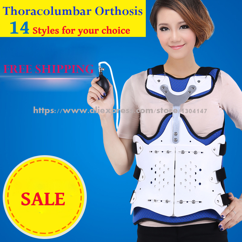 Medical Thoracolumbar Orthosis Adjustable Spine Lumbar Support Thoracic After Fracture Fixation Waist Brace Compression Fracture newest design adjustable medical brace cervical thoracic orthosis health care product fixation stent free shipping via express